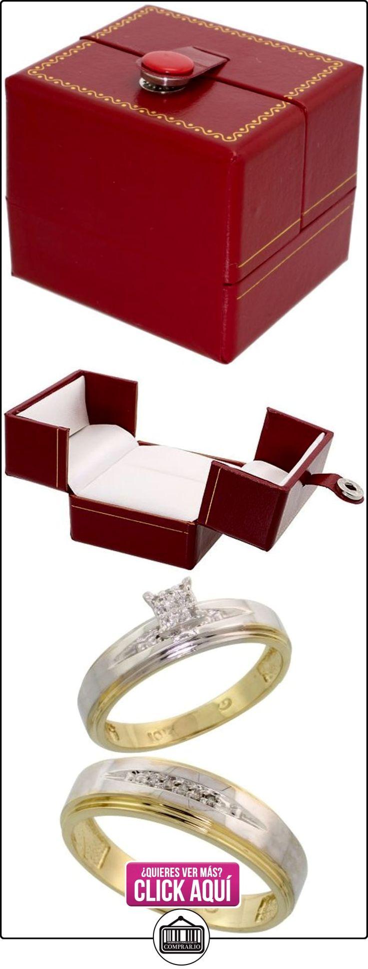 Revoni - Anillo de compromiso de oro amarillo  ✿ Joyas para hombres especiales - lujo ✿ ▬► Ver oferta: http://comprar.io/goto/B005M3GAQS