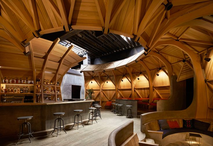 Berg Design #Architecture designs @kinfolklife in Brooklyn as a geodesic #wood dome #WoodLovers Wood Lovers