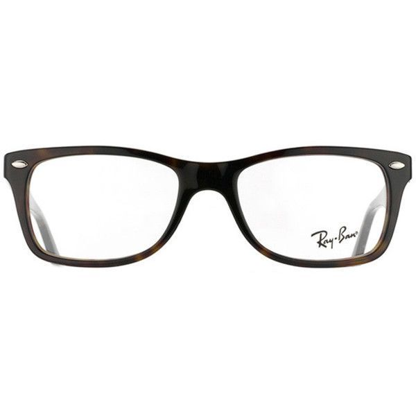 b90a526cea Ray-Ban RX 5228 2012 Dark Havana Plastic Eyeglass Frames ( 100)   liked on  Polyvore featuring accessories