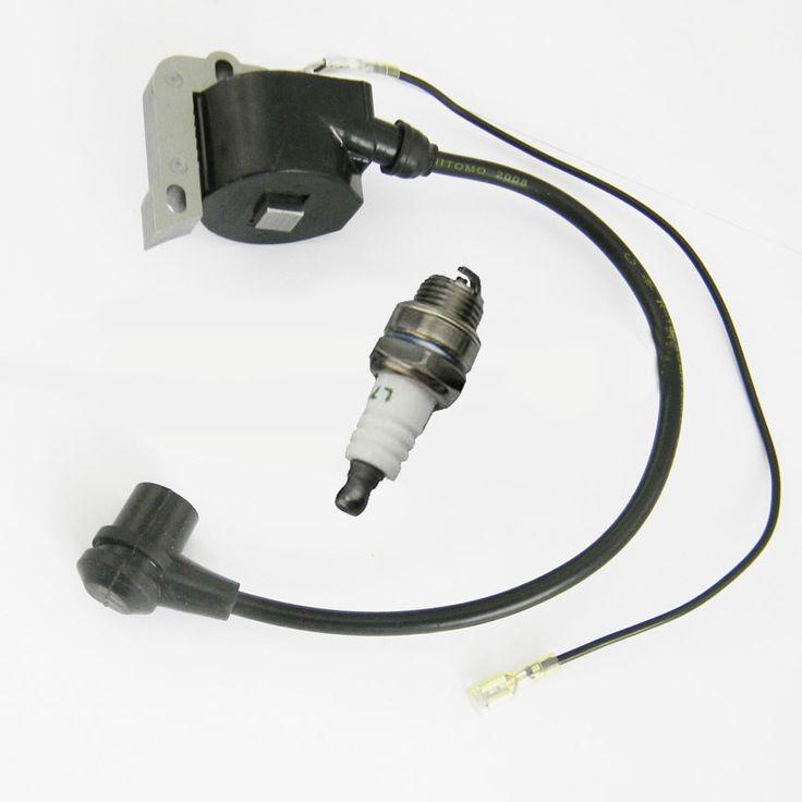 Ignition Coil & Spark plug For HUSQVARNA 50 51 55 254 257 261 262 266 268 272 XP