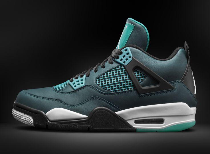 Exactly Fit Nike Jordan 4 Cheap sale Glow in the Dark Black Blue