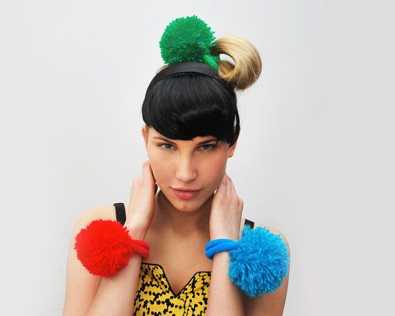 Take 3 pay less UTHA pompom hair bobbles  / hair by UTHAhats, $28.00