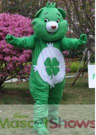 Costume de mascotte de Bisounours vert