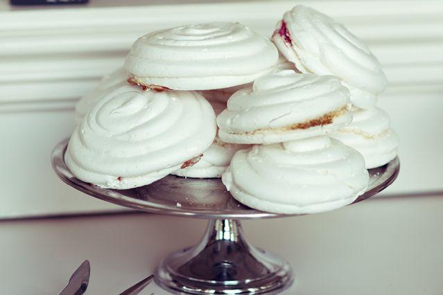 jam-filled meringues