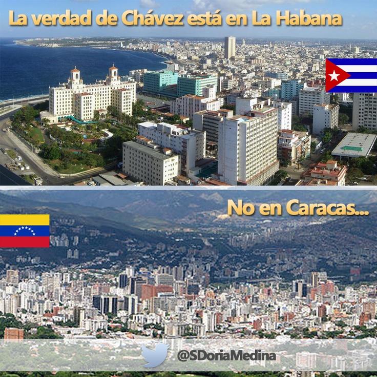 ¿Por qué solo hay 3 Presidentes de Sudamérica en Caracas? ¿Por qué no fueron los otros? Saben que la verdad no está ahí.  La Presidenta Cristina Fernández y el Presidente Ollanta Humala están en Cuba, la verdad está ahí, todo se juega en si los dejan o no ver y hablar con el retenido Hugo Chávez. La Visita es clave.  http://www.la-razon.com/mundo/Maduro-Fernandez-Humala-Habana_0_1759624067.html