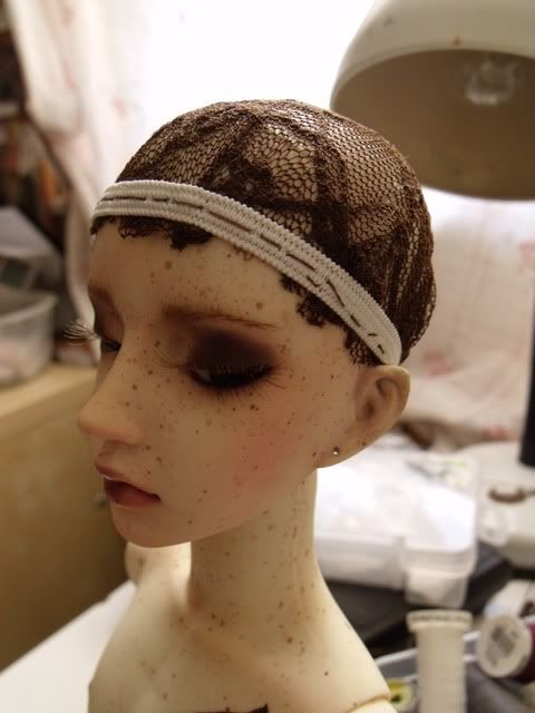 Evening Dreams — how to make a wig that won't fall off your oddly shaped dolls head!