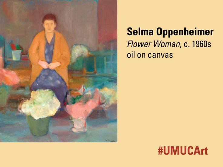 This painting from Selma Oppenheimer is this week's featured #UMUCArt work. A prime example of the artist's figurative work, this piece was likely painted from sketches that she completed in southern France. Her focus is not on the psychological aspect of the person depicted, but rather on the compositional design to capture a glimpse of humankind in everyday activity. What do you think of this piece?