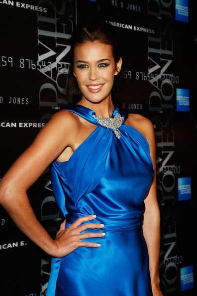 Megan Gale looks amazing in Blue.