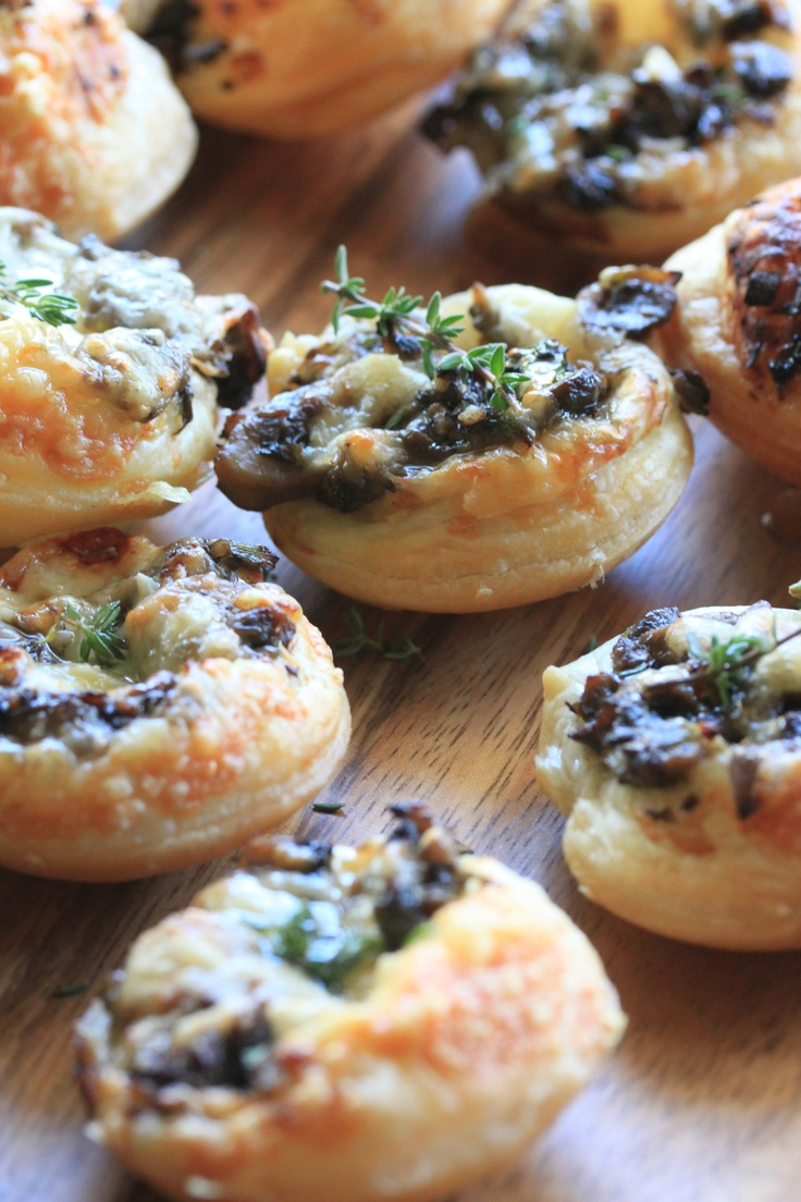 Swiss Cheese and Mushroom Tartlets