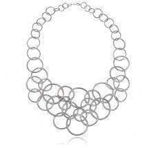 Mirabilis Necklace in Sterling Silver with Diamonds - Gitte Soee Jewellery - Shop Online