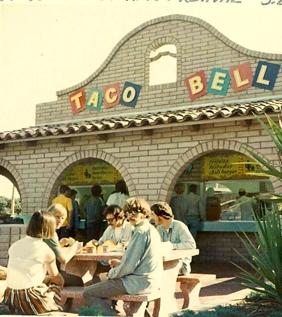 Creedence Clearwater Revival dining at Taco Bell in 1969. Yes.