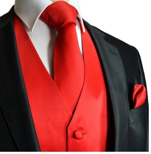 Solid Red Tuxedo Vest Set http://www.yourneckties.com/solid-red-tuxedo-vest-set/