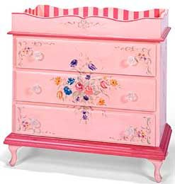 changing table...but not in pink for my taste