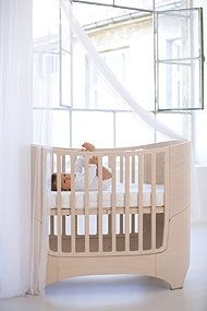 Leander Cot/Bed Whitewash Beech - Cots and Change tables - Brisbane Furniture for babies - baby nursery and bedroom ideas