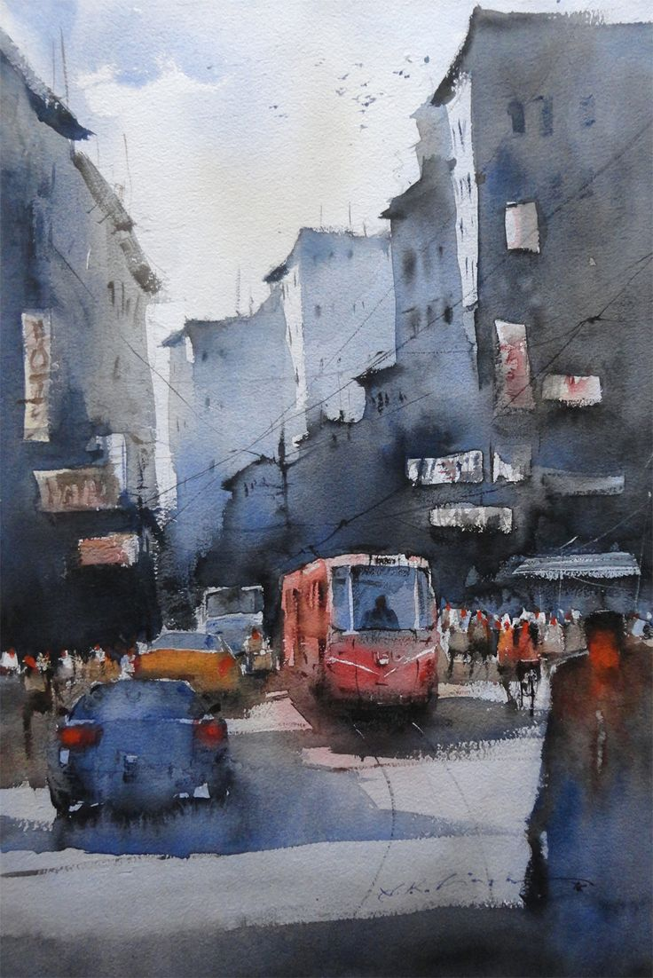 Renew watercolor artist magazine - Water Color Painting Of Famous Watercolor Artist Nitin Singh Explore His Creation Watercolours