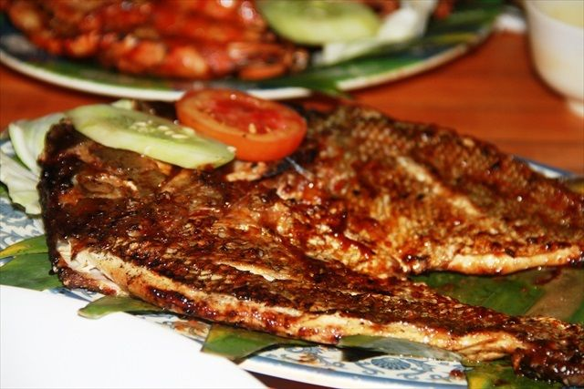Jimbaran BBQ Fish with coconut oil and chili sambal brush