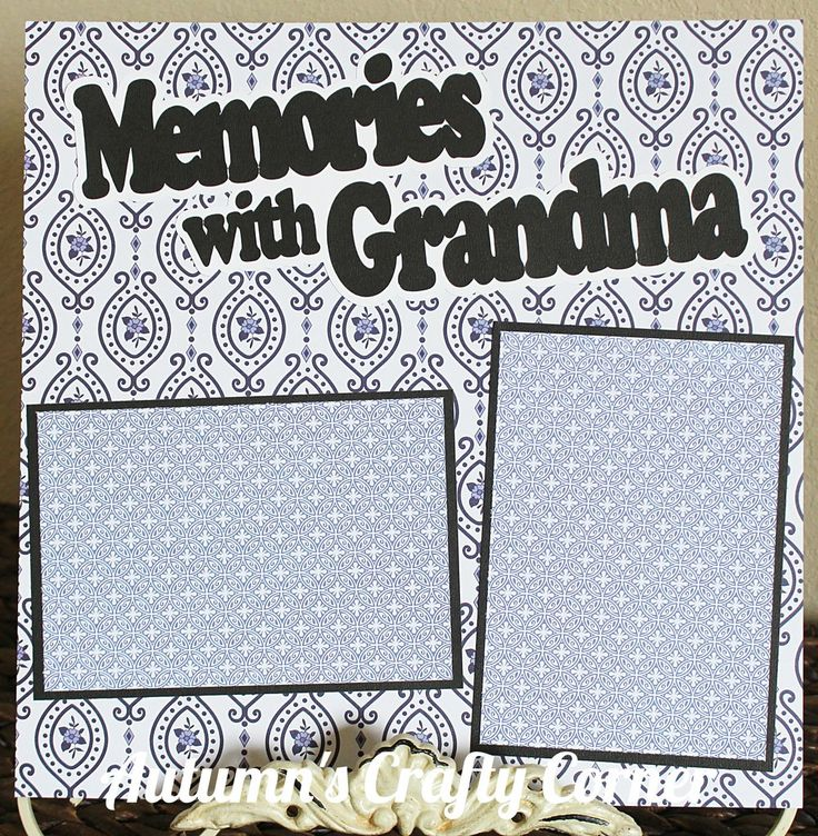 Memories with Grandma - Basic Premade Scrapbook Page 12x12 Layout