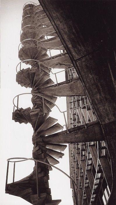 Marcel Breuer - East fire stair at the UNESCO Secretariat, Paris 1953 by jwc