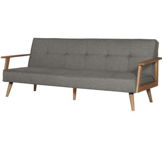 Buy Hygena Margot 2 Seater Fabric Sofa Bed - Charcoal at Argos.co.uk - Your Online Shop for Sofa beds, chairbeds and futons, Living room furniture, Home and garden.