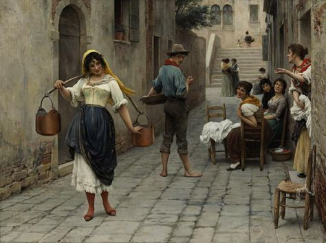 Catch of the Day - Eugene de Blaas - WikiArt.org