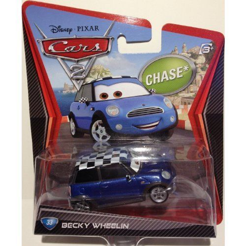 Disney Pixar Cars 2 BECKY WHEELIN Chase by Mattel. $8.99. Disney Cars 2 Becky Wheelin Car Diecast Mattel. All your favorite characters from the Disney Pixar film, CARS 2, in 155th scale. With authentic styling and details, these die cast characters are perfect for recreating all the great scenes from the movie. Collect them all!Star racecar Lightning McQueen and the incomparable tow truck Mater take their friendship to exciting new places in Disney Pixar Cars 2 when they head...