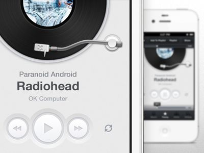 #Music #app #design #player #iphone #ui