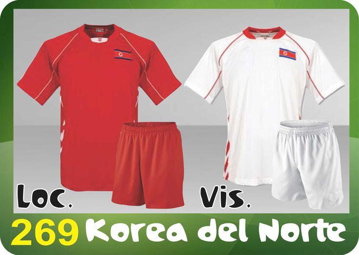 UNIFORME SOCCER DRI FIT. Mod. 269 KOREA DEL NORTE