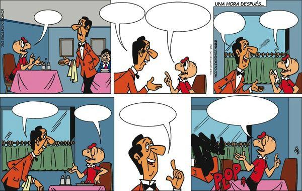 Using comics for practicing writing dialogues