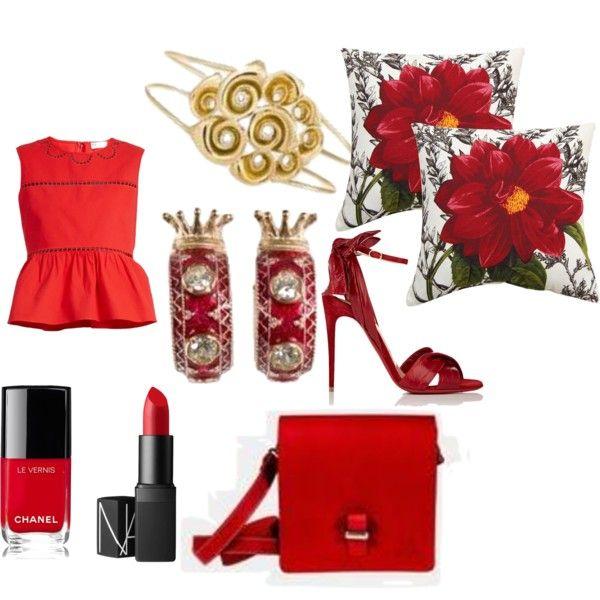 Gold, diamonds and red color fashion with Capolavori inspiration