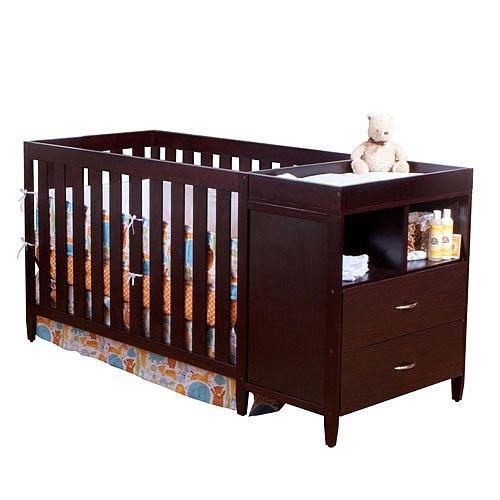 "BSF Baby Austin Convertible Crib 'n Changer Combo - Espresso - BSF Baby - Babies ""R"" Us"