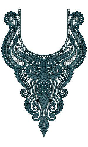 9739 Neck Embroidery Design