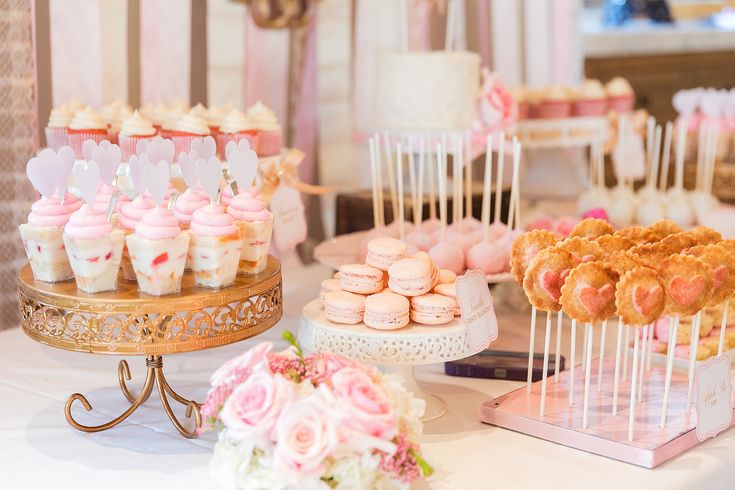 Ideas For Baby Shower Cake Table : Pink Baby Shower Dessert Table Baby shower ideas ...