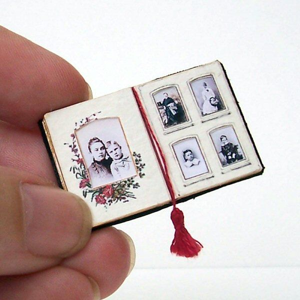 miniature Victorian photo album
