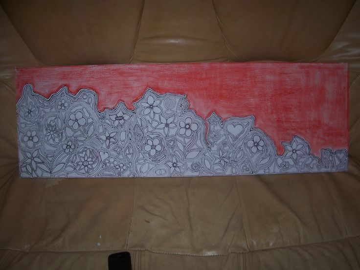 Large doodle on canvas