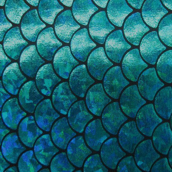 Big Fish Scale Blue 58 Inches Wide Fabric By by KINGDOMOFFABRICS