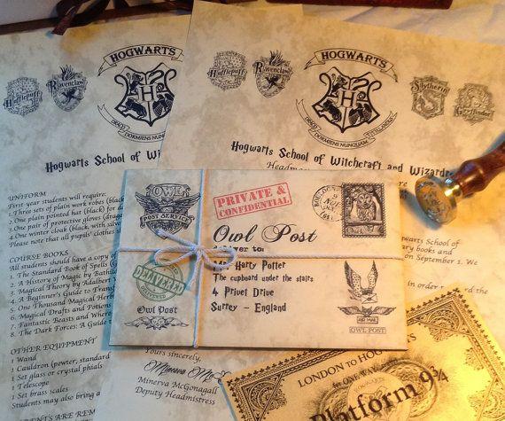 Personalized Harry Potter / Hogwarts Acceptance Letter
