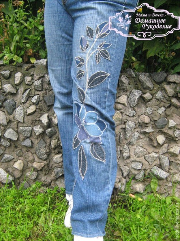 Делаем оригинальную заплатку на джинсы - Ярмарка Мастеров - ручная работа, handmade