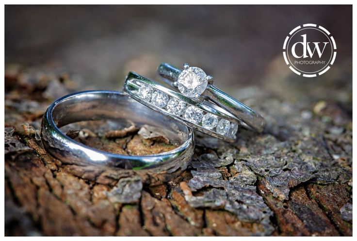 Wedding rings at Chippenham Park, Cambridgeshire