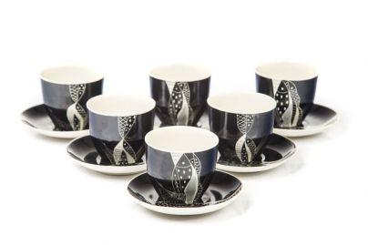 Zakłady Porcelany i Porcelitu w Chodzieży - Zestaw 6 filiżanek do kawy