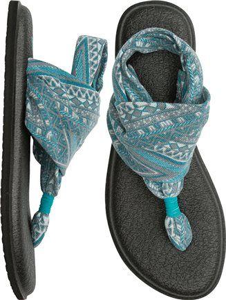 Sanuk Yoga Sling 2 Prints Sandal. http://www.swell.com/New-Arrivals-Womens/SANUK-YOGA-SLING-2-PRINTS-SANDAL?cs=TE