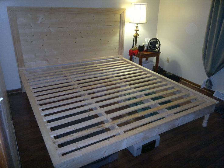 17 Best images about DIY King Bed Frame & Headboard on Pinterest | Diy headboards, Diy platform ...