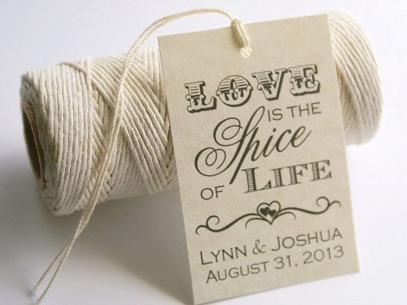 Love is the Spice of Life Printable Wedding by EventPrintables, $12.00