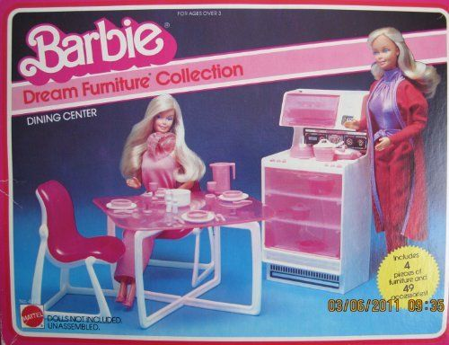 Barbie Dream Furniture Collection Dining Center W 4