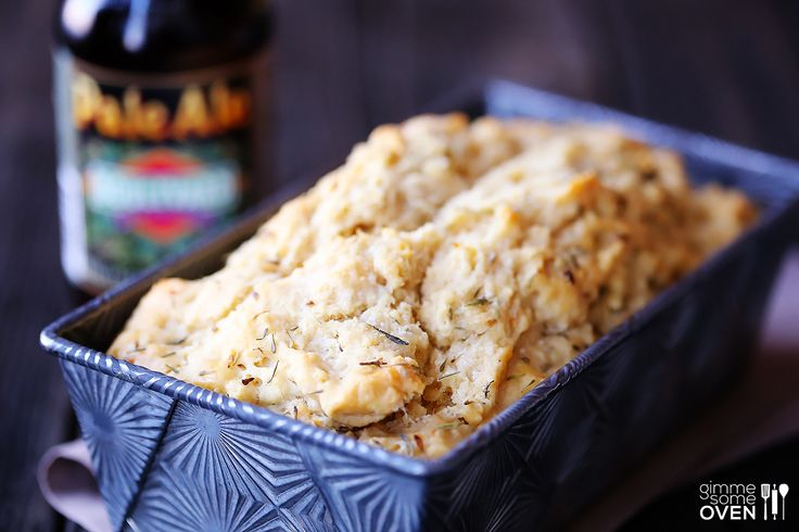 Whole Wheat Garlic & Herb Beer Bread | gimmesomeoven.com Not very good - would not make again!