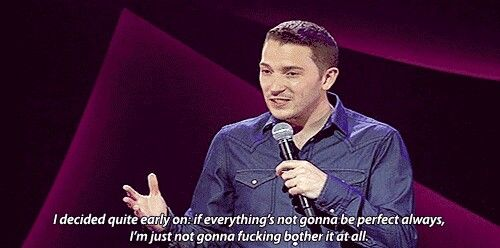 Jon Richardson, the problem with being a perfectionist