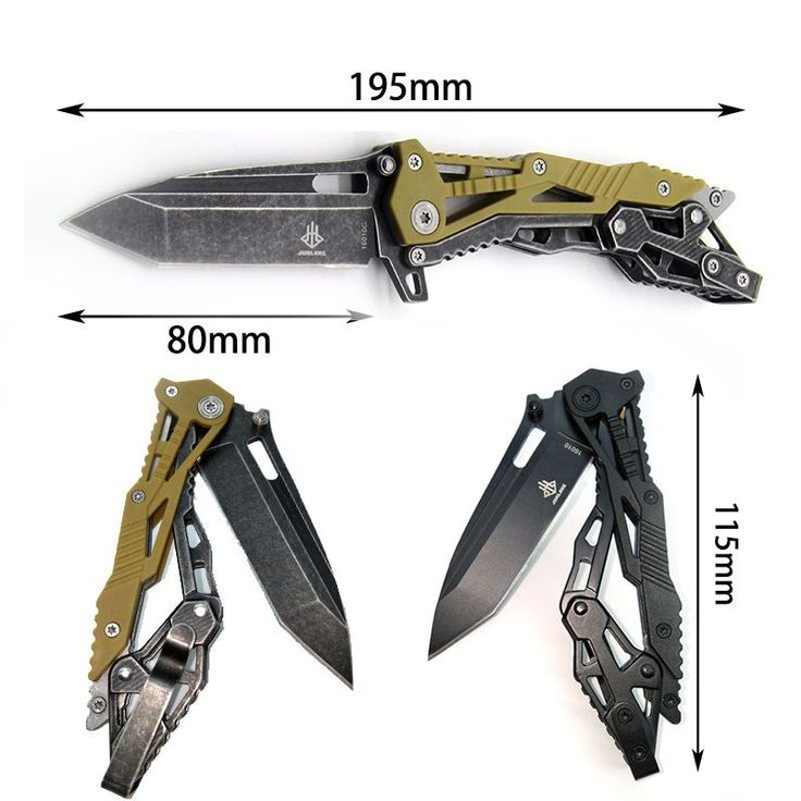 LANTERN SHARK Folding Knife Tactical Survival Knives Army Hunting knife Karambit Handle Pocket Camping Tool Black Branda