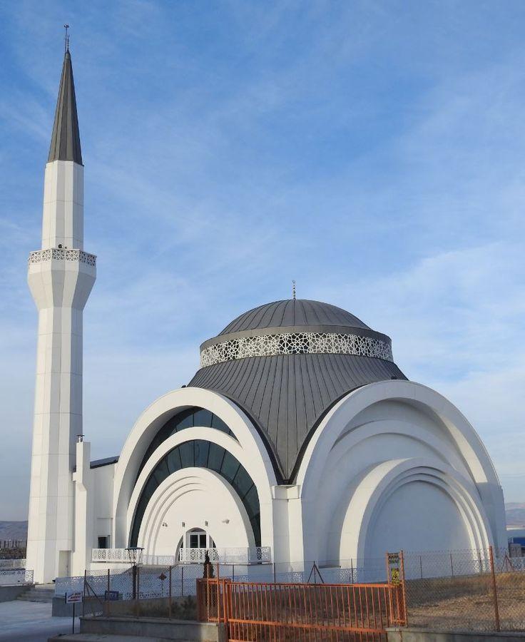 Eskisehir Kobi OSB Mosque in Eskisehr (Turkey) by by Horasan Insaat, Contractor : Kayalar Kenet, #Zinc #QuartzZinc #VMZINC #Dome #Turkey #Architecture #Mosque