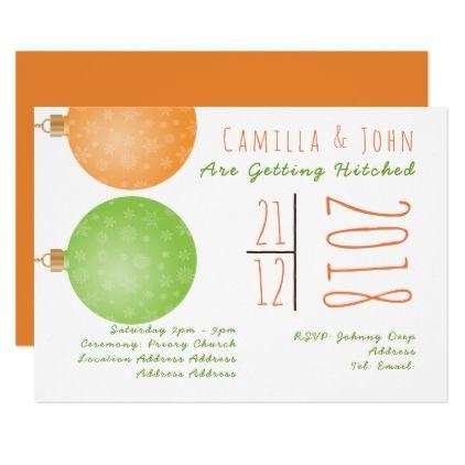 Informal Christmas Wedding Invitation Unusual - wedding invitations diy cyo special idea personalize card