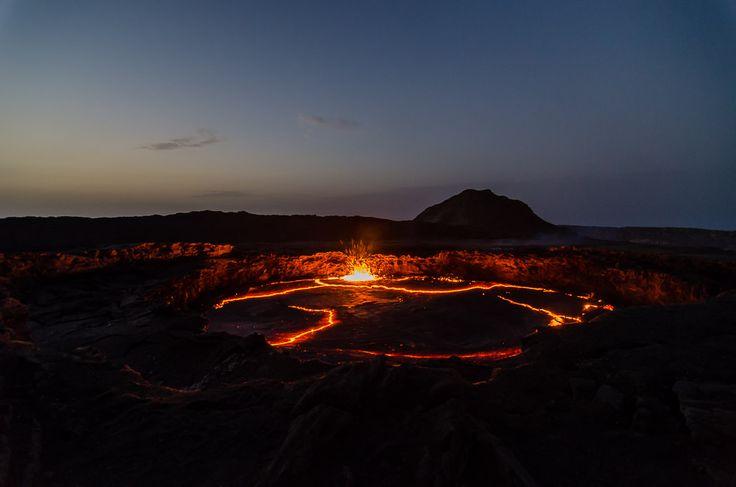 Finding active volcanos in ethiopia