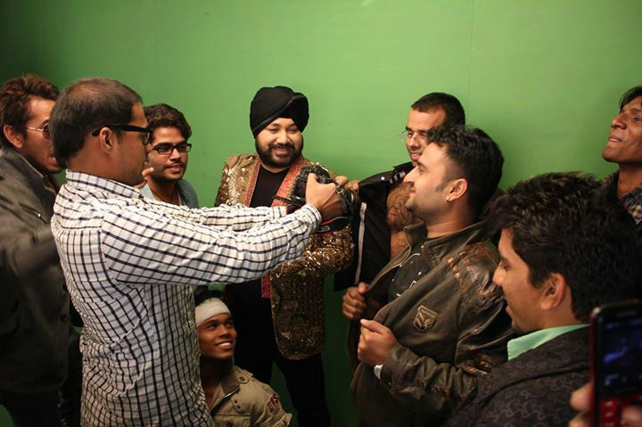 a #shoot with #daler #mehndi
